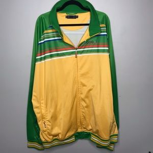 Vintage Coogi 5XL Stripe Track Jacket Spell Out